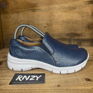 Nurse Mates Navy Blue Slip Resistant Slip On Shoes
